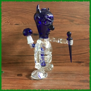 Demon glass smoking pipe
