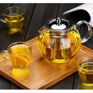 Glass teapot 650ml with infuser