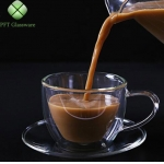 Glass coffee Cups With Saucers