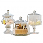 Lovely Glass Dessert Cake Stand With Glass dome
