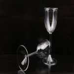 Clear double wall red wine glass cups