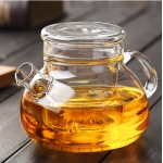 Clear glass tea pots with infusters